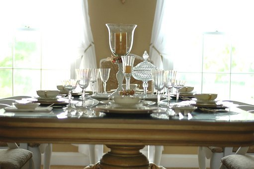 Table, Setting, Dining Room, Window, Table Setting