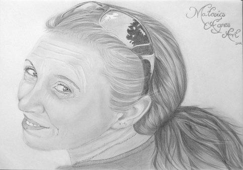 Woman, Drawing, Graphite, Art, Pencil, Person, Portrait
