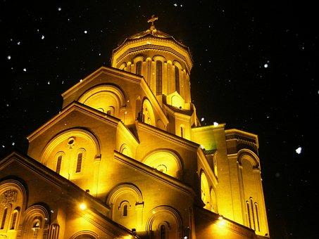 Tbilisi, Georgia, Sameba, City, Architecture, Caucasus
