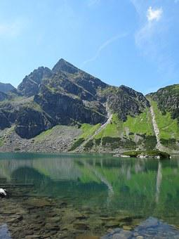 Tatry, Poland, Mountains, Black Pond A Tracked