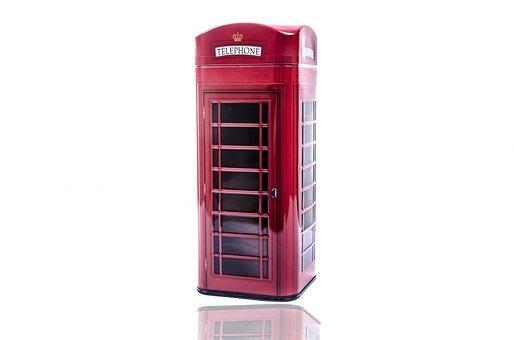 Phone, Booth, Red, Box, London, English, England