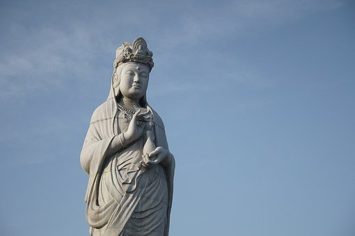 Buddha, Gangwon Do, Background, The Enormity Of, Sky