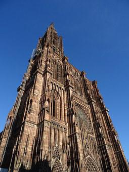 Cathedral, Strasbourg, Alsace, France, Middle Ages