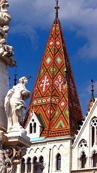 Budapest, Cathedral, Roof, Ancient, Historic, Hungary