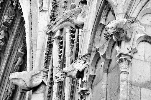 Paris, Cathedral, Notre-dame, France, Architecture