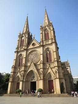 China, Canton, Shishi Sacred Heart Church