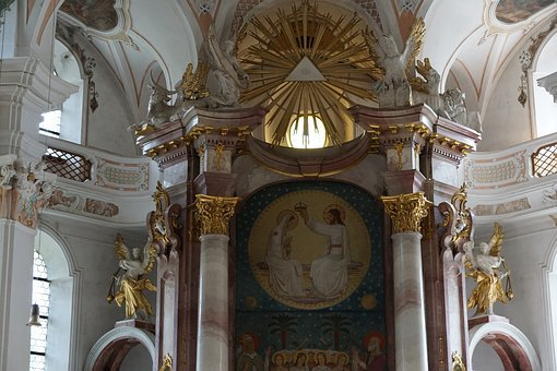 Beuron, Church, Monastery, Maria, Catholic, Building