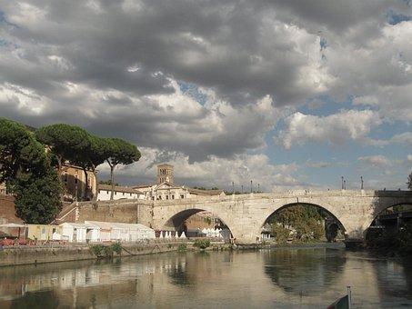 Rome, Lazio, Italy, Tiber, Capital, Cruise