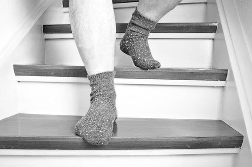 Stairs, Feet, Go, Socks, Get Off, Level, Stair Step