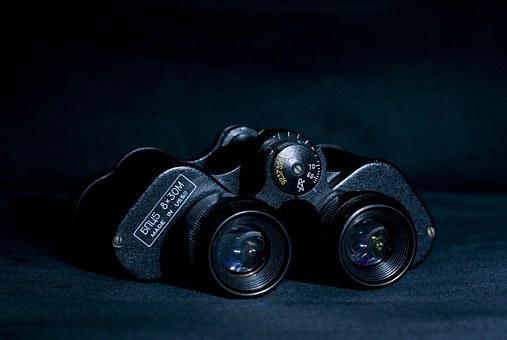 Binoculars, Looking Glass, Magnification, Object, Lens