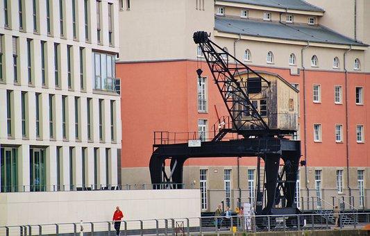Crane, Kranhaus, Lifting Crane, Architecture, Building