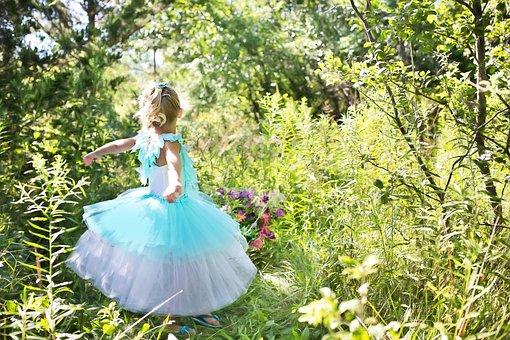 Princess, Pretty, Little Girl, Girl, Dress, Young