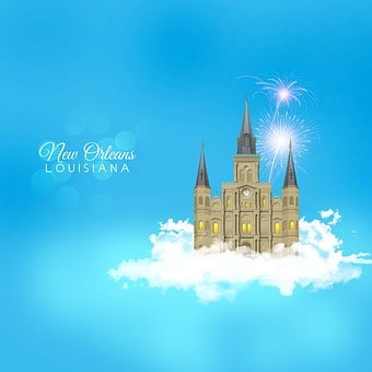 New Orleans, Louisiana, Jackson Square, Cathedral