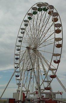 Manege, Ferris Wheel, Fun Fair, Attraction, Nacelle