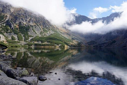 Mountains, Pond, Top View, Tatry, Poland, Landscape