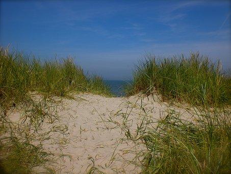 Sea, Dunes, Dune Grass, Sand, North Sea, Path