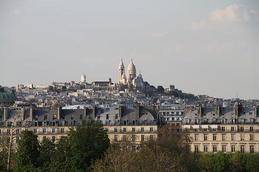 Paris, Sacred Heart, Basilica, Skyline, Tourism