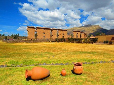 Site Arqueologico, Peru, Archaeological Site, Raqchi