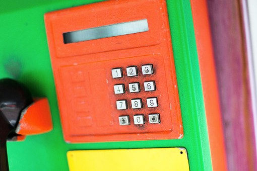 Phone Booth, Thailand, Old, Phone, Colorful, Keys, Pay
