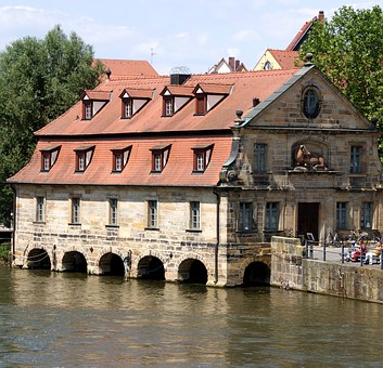 Home, Water, Mirroring, Arch, River, Ill, Alsace, Quiet