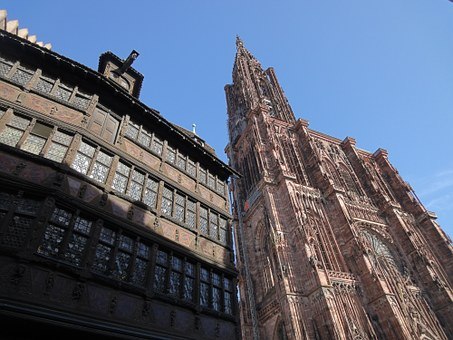 Strasbourg, Cathedral, House, Alsace, Religion