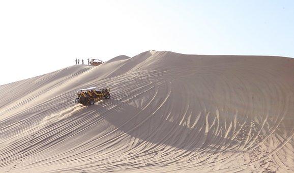 Peru, Huacachina, Sandboarding, Dunes, Sand, Desert