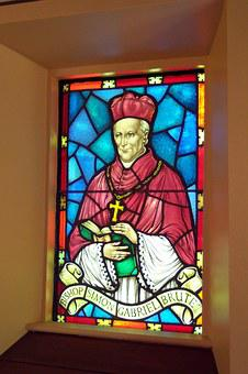 Stained Glass Window, Pope, Stained, Glass, Church