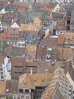 Roofs, Strasbourg, France, Homes, Winding