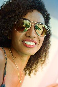 Sunglasses, Woman, Girl, Model, Portrait, Reflections