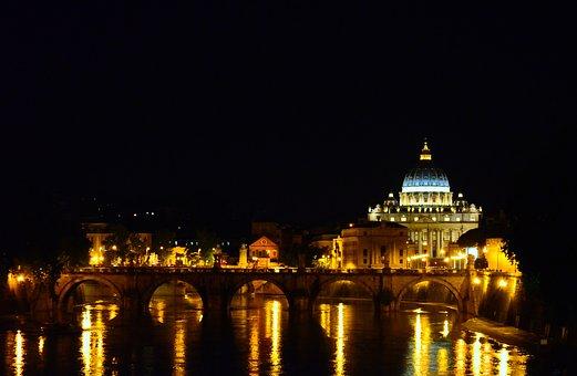 Rome, San Pietro, Vatican, St Peter's Basilica, Tiber