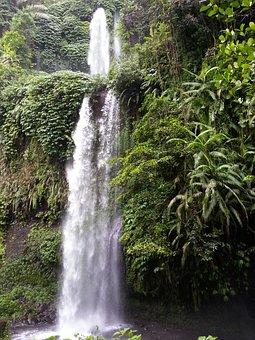 Waterfall, Rinjani, Travel, Skate, Indonesia