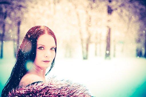 Winter, Snow, Fantasy, Beauty, White, Cold, Tree, Girl