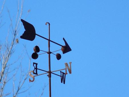 Wind, Weathervane, Weather, Vane, Direction, Metal