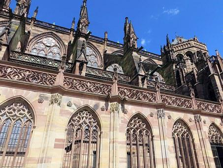 Strasbourg, Alsace, Cathedral, Windows