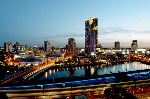 Melbourne, Cityscape, Skyline, Australia, South, Sight
