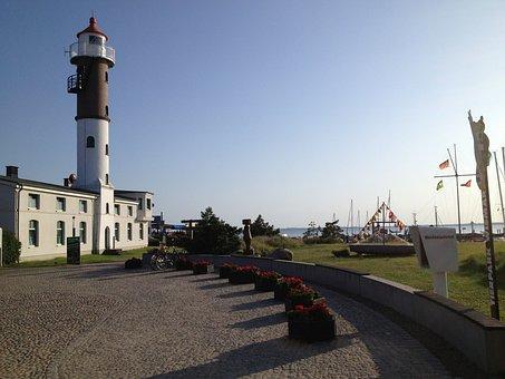 Lighthouse, Timmendorf, Baltic Sea, Evening