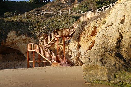 Beach, Stairs, Costa Vicentina, Beach Access, Holidays