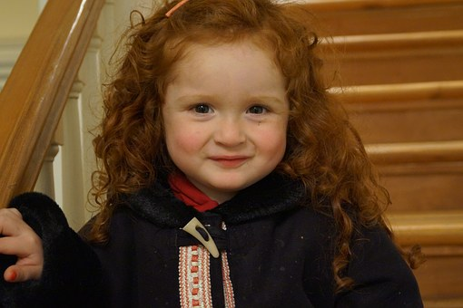 Child, Smile, Happy, Ginger, Curly Hair