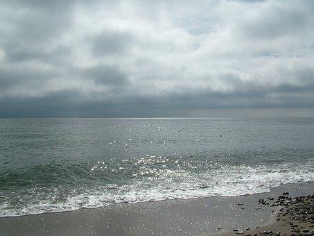 Baltic Sea, Beach, Clouds, Sea, Coast, Nature, Bank