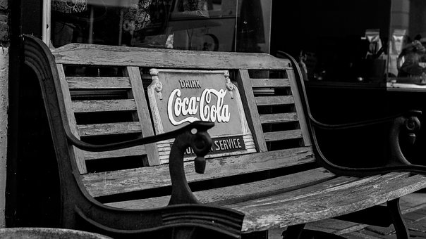 Coca Cola Bench, Antique Bench, Old Fashioned Bench