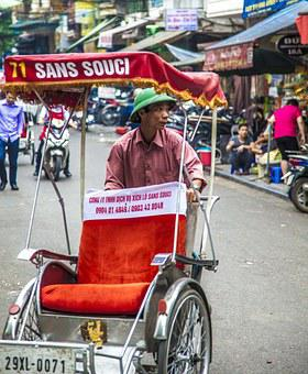 Travel, Hanoi, Viet Nam, Men, Work, Driver, Vagon