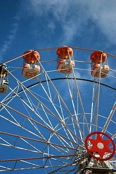Ferris Wheel, Blue Skies, Sky, Wheel, Blue, Ferris
