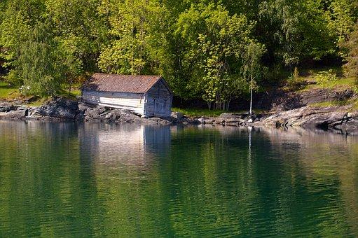 Norway, Fjordlandschaft, Mountains, Landscape, Nature