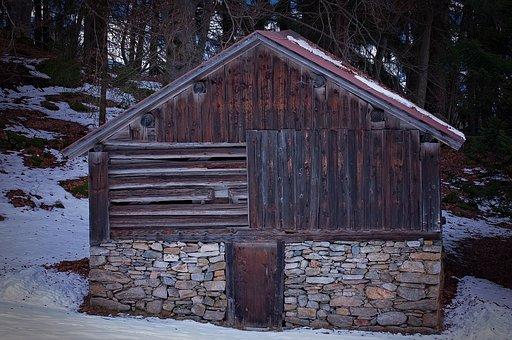 Hut, Barn, Wood Mint, Log Cabin, Scale, Hayloft