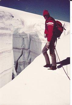 Crevasse, Mountain Guides, Ice, Switzerland, Snow