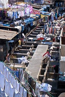 Laundry, Slum, India, Mumbai
