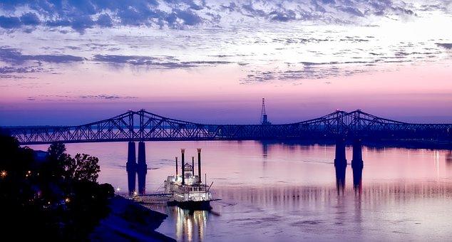 Natchez, Mississippi River, Riverboat, Casino, Gambling