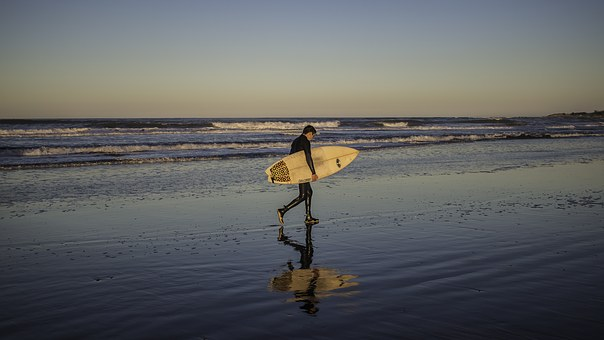 Surfer, Mar Del Plata, Costa, Waves, Sea, Ocean, Beach