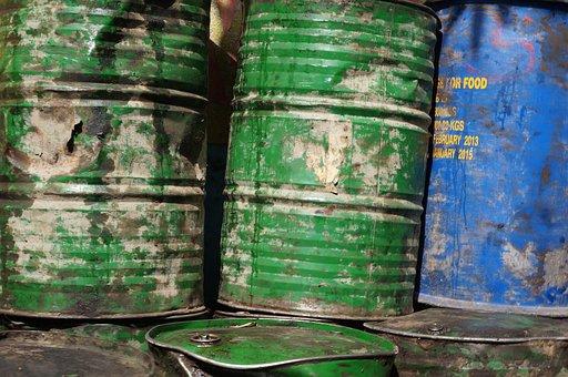 Oil, Barrels, Metal, Barrel, Fuel, Industry, Blue