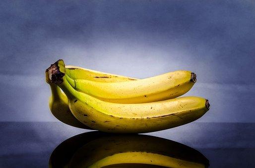 Banana, Yellow, Close-up, Ripe, Tropical, Peel, Diet